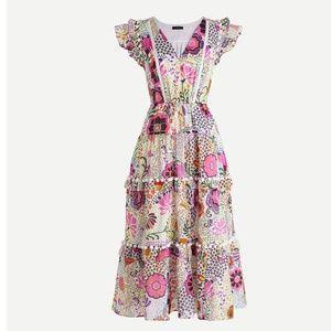 J Crew Pom Pom dress in Ratti retro floral print